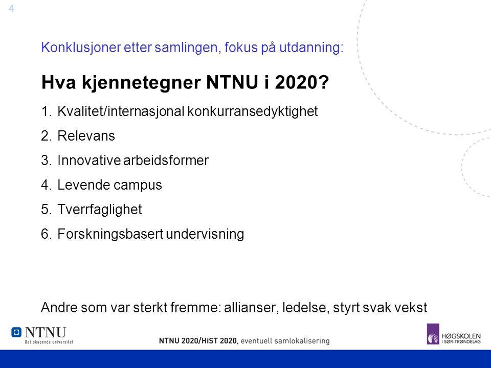 Hva kjennetegner NTNU i 2020