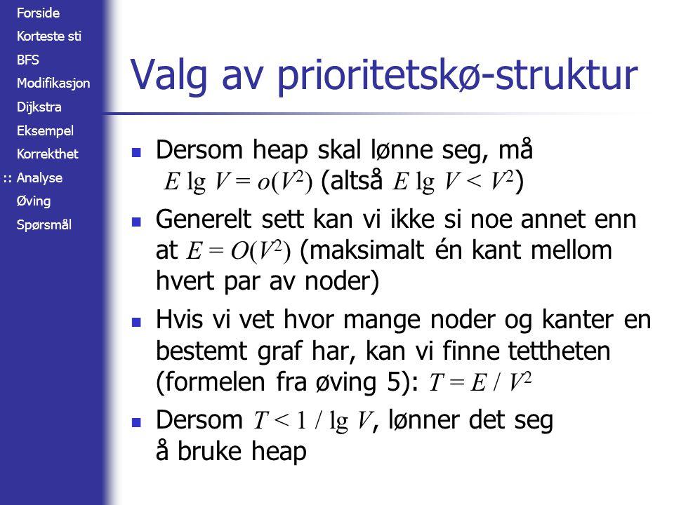 Valg av prioritetskø-struktur