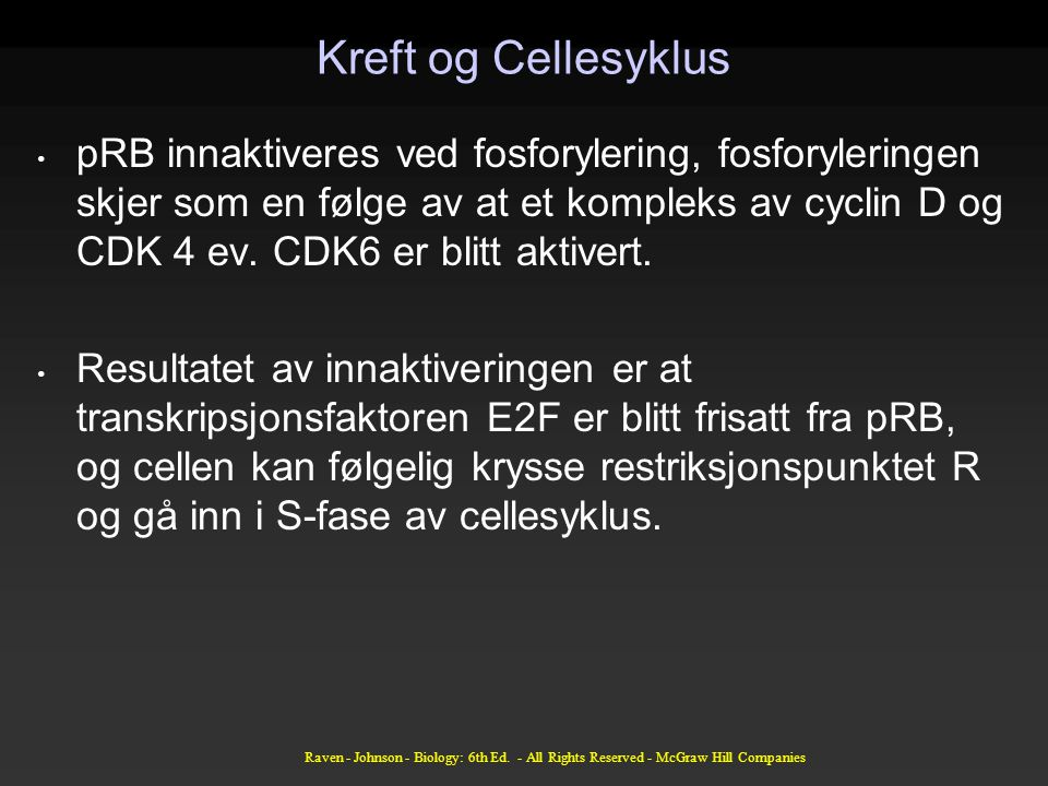 Kreft og Cellesyklus