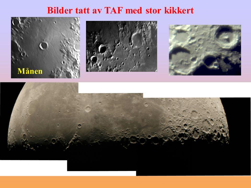 Bilder tatt av TAF med stor kikkert