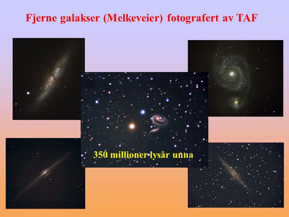 Fjerne galakser (Melkeveier) fotografert av TAF