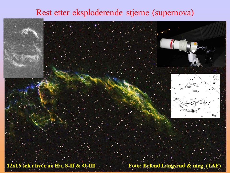 Rest etter eksploderende stjerne (supernova)