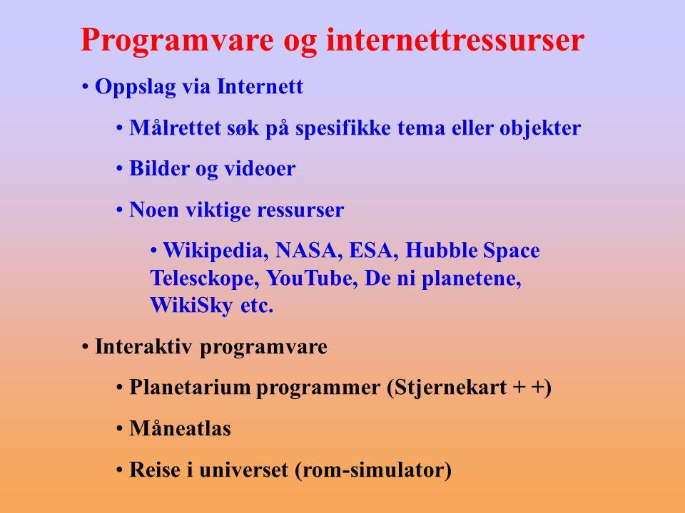 Programvare og internettressurser