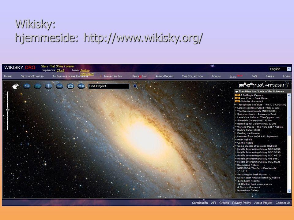 hjemmeside: http://www.wikisky.org/