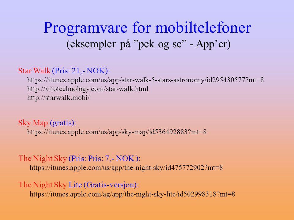 (eksempler på pek og se - App'er)