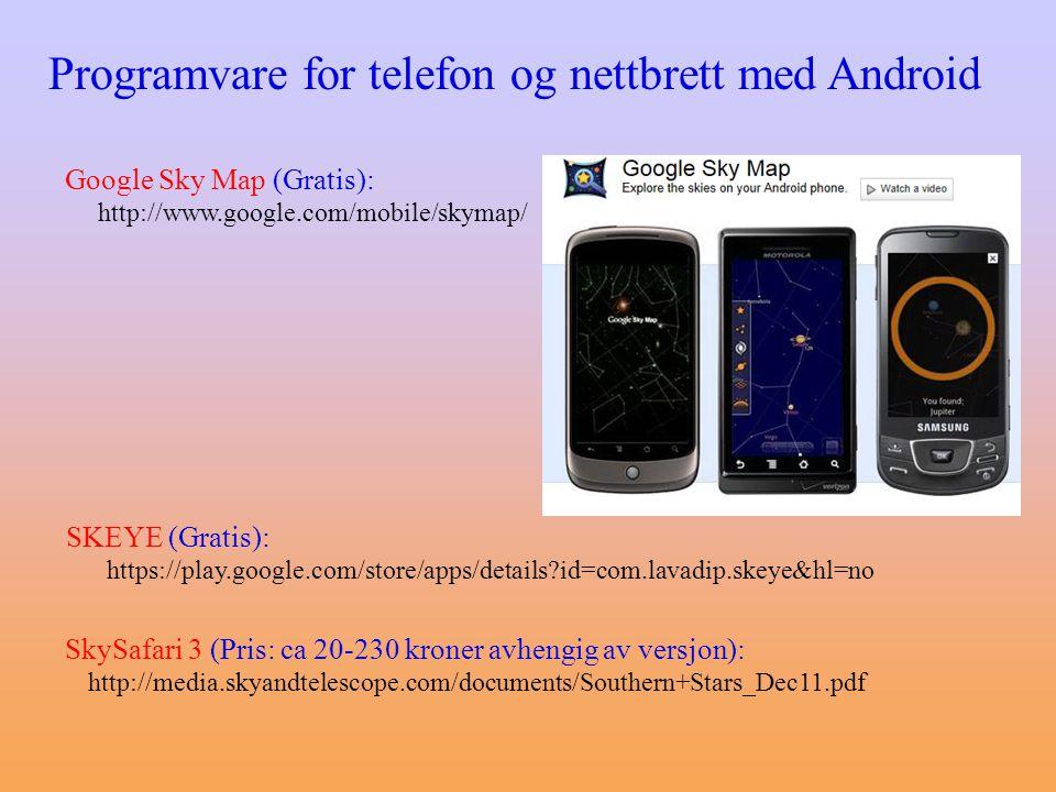 Programvare for telefon og nettbrett med Android