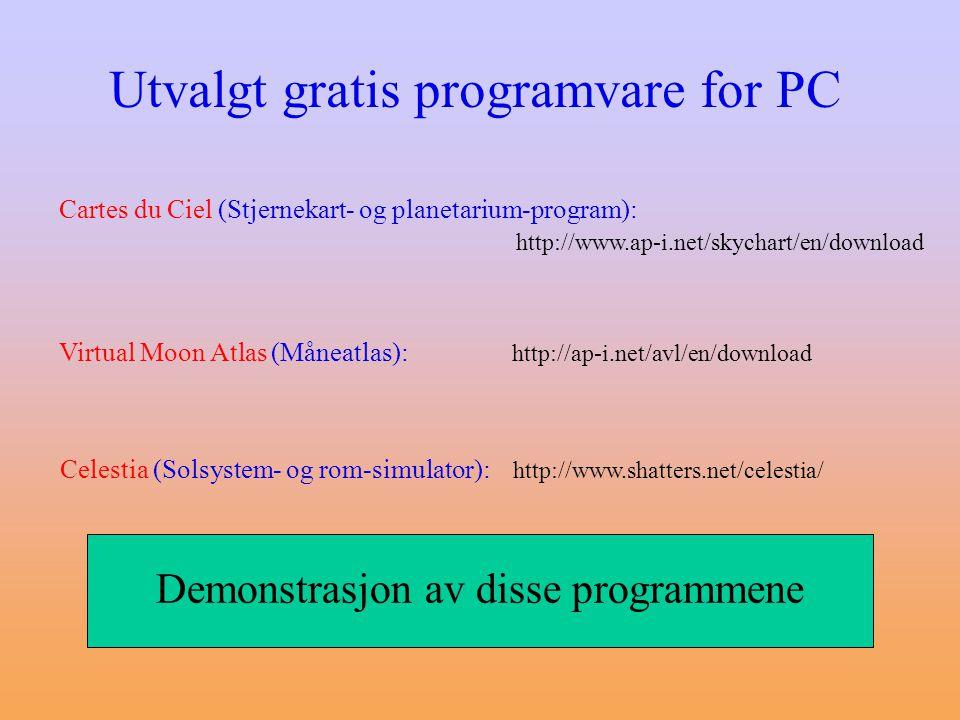 Demonstrasjon av disse programmene