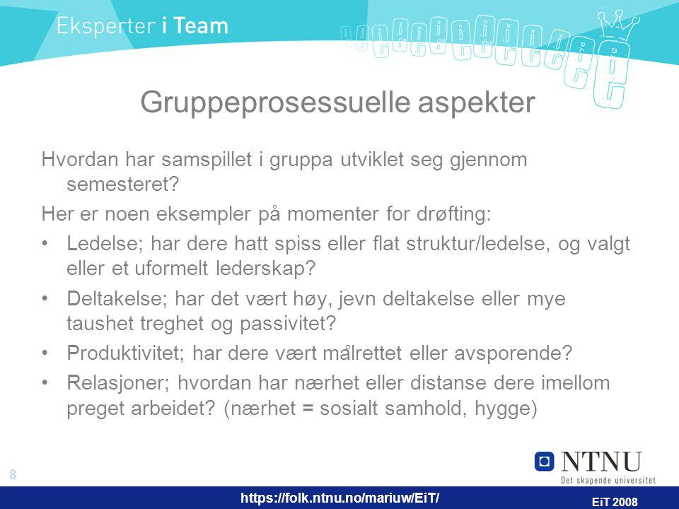 Gruppeprosessuelle aspekter