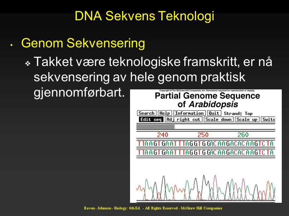 DNA Sekvens Teknologi Genom Sekvensering