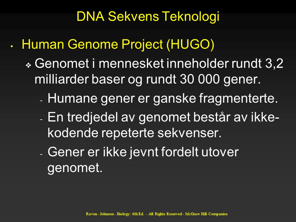Human Genome Project (HUGO)