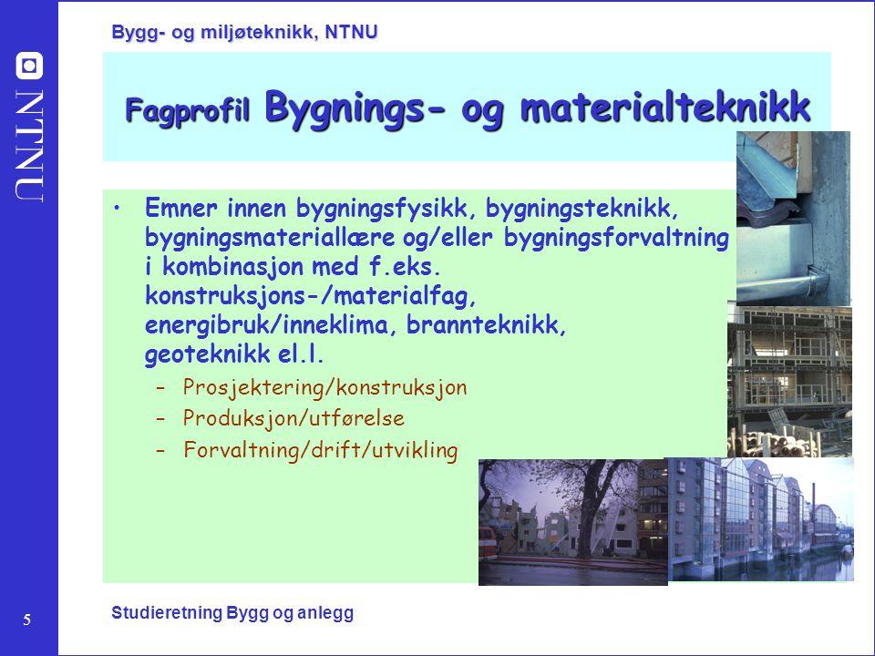 Fagprofil Bygnings- og materialteknikk