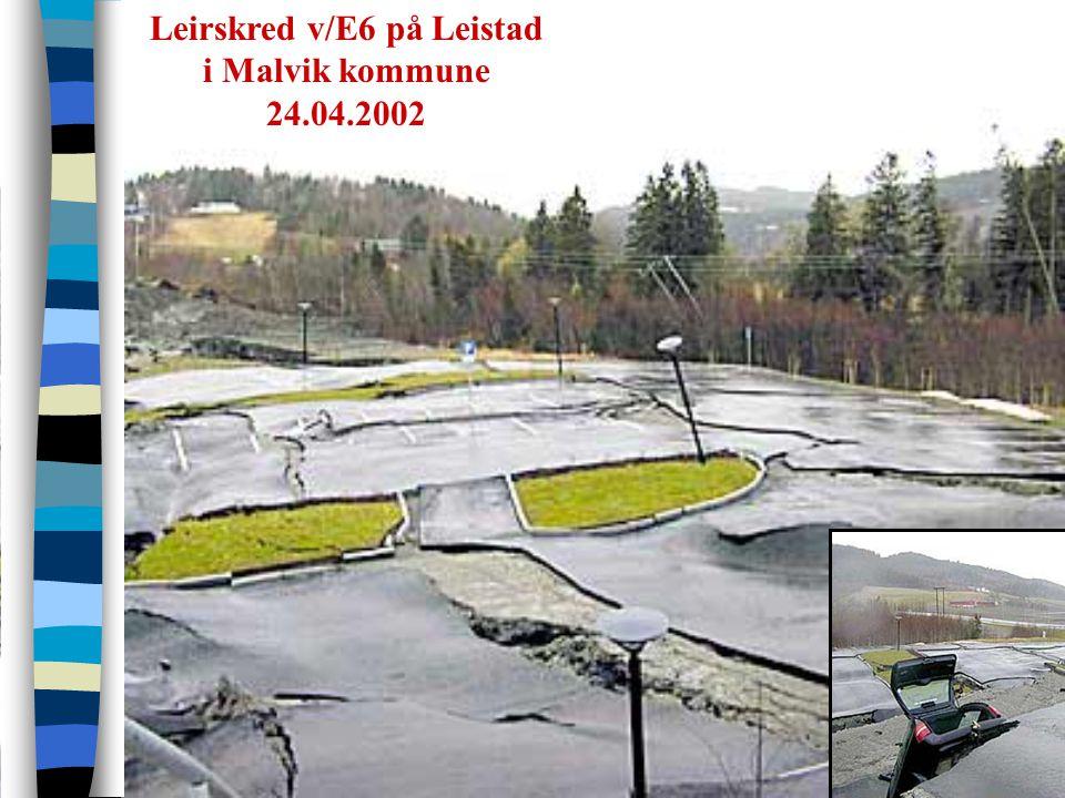 Leirskred v/E6 på Leistad