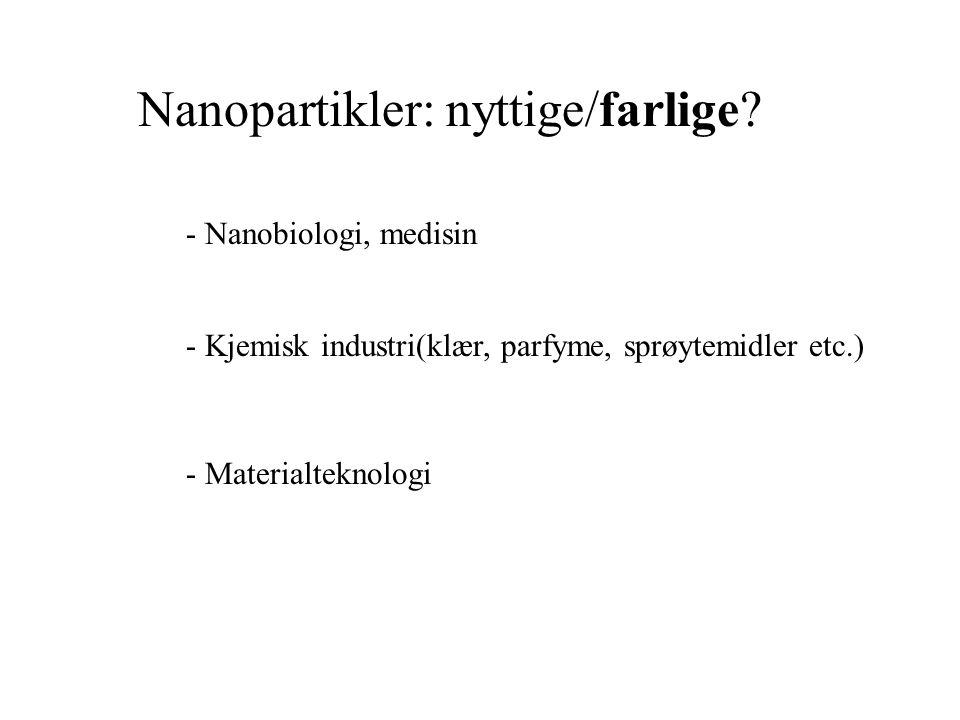 Nanopartikler: nyttige/farlige