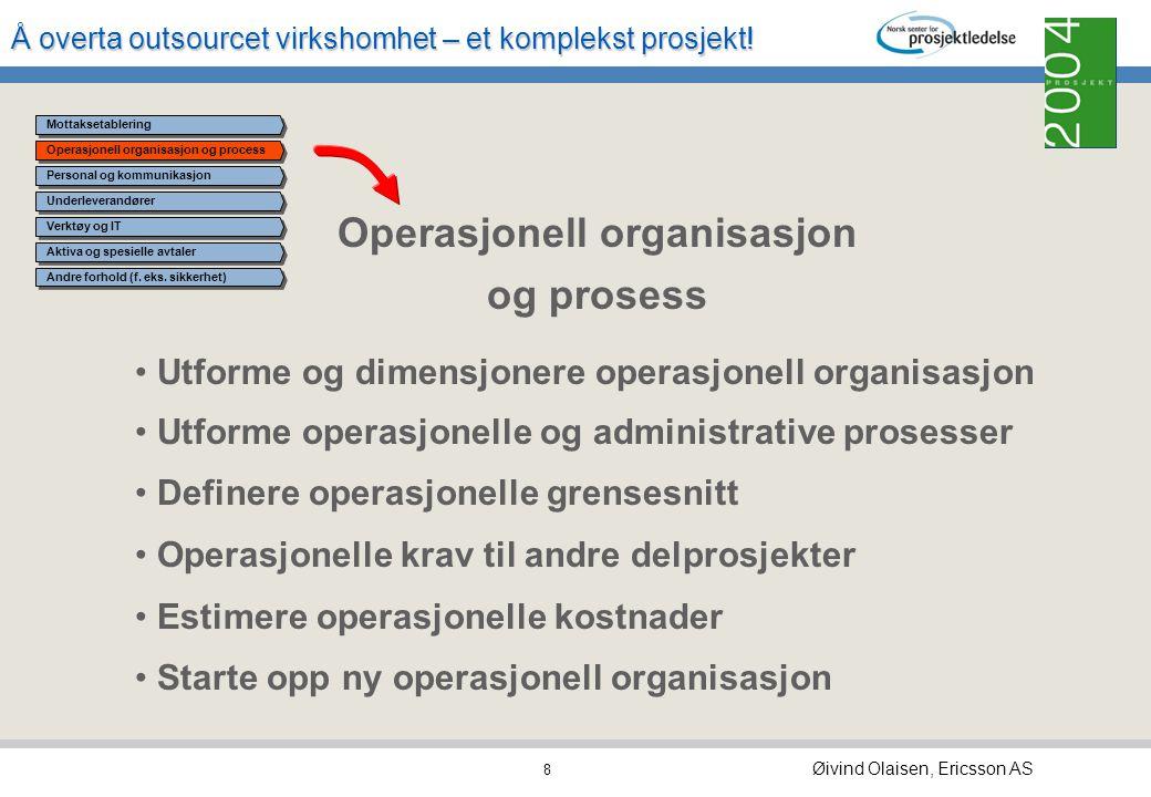 Operasjonell organisasjon og prosess