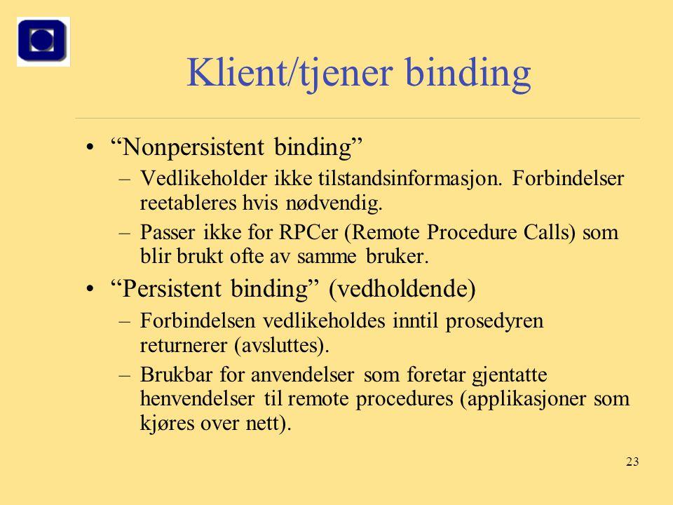 Klient/tjener binding
