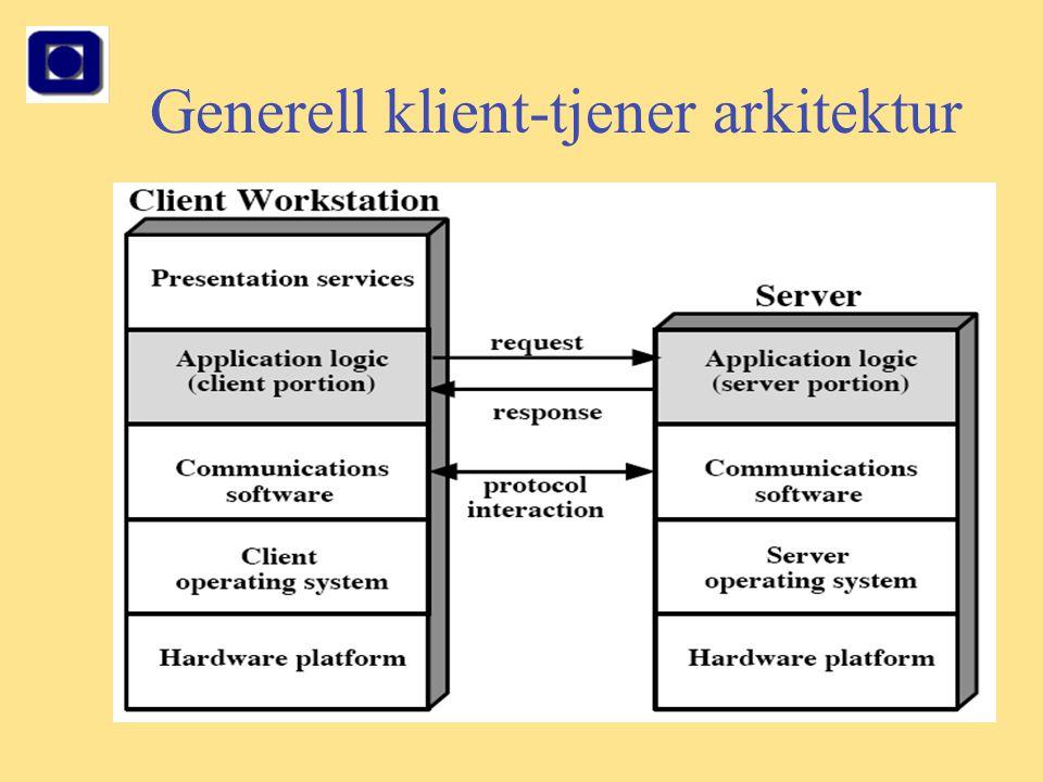 Generell klient-tjener arkitektur