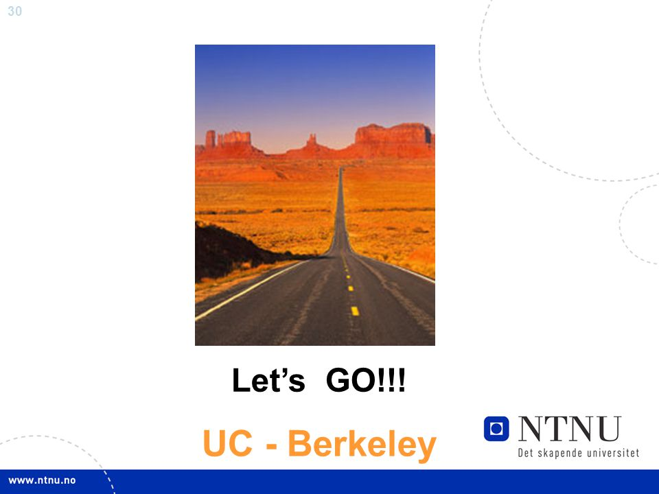 Let's GO!!! UC - Berkeley