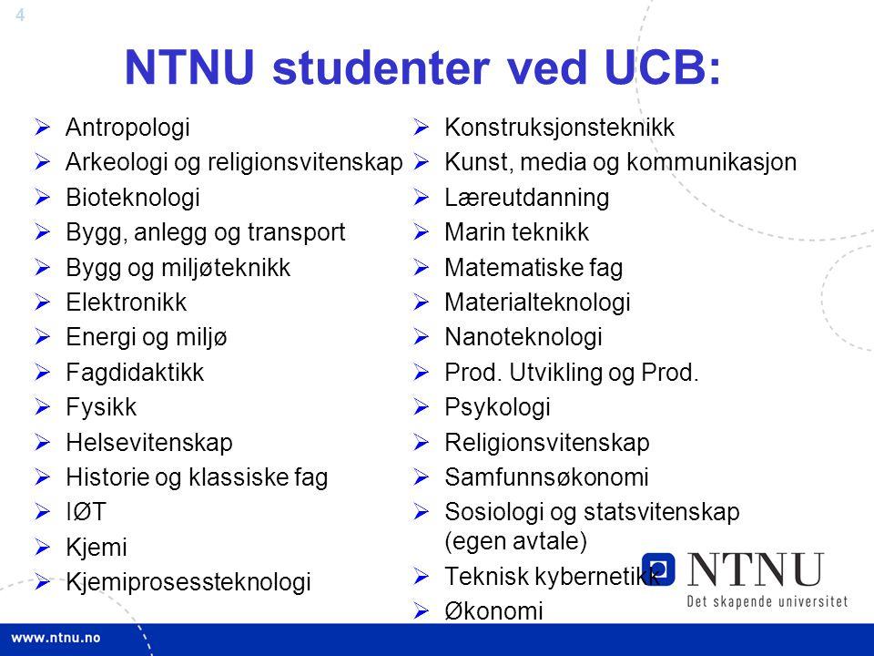 NTNU studenter ved UCB: