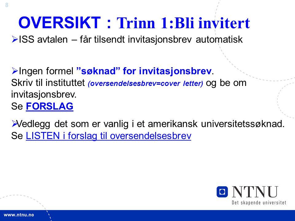 OVERSIKT : Trinn 1:Bli invitert