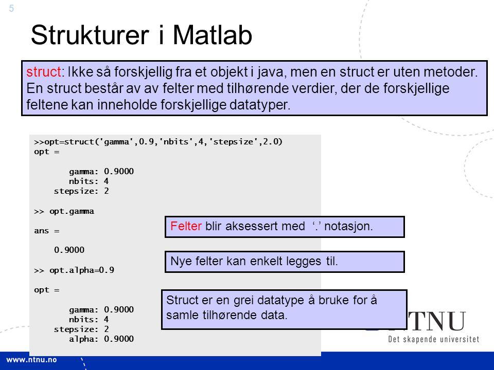 Strukturer i Matlab