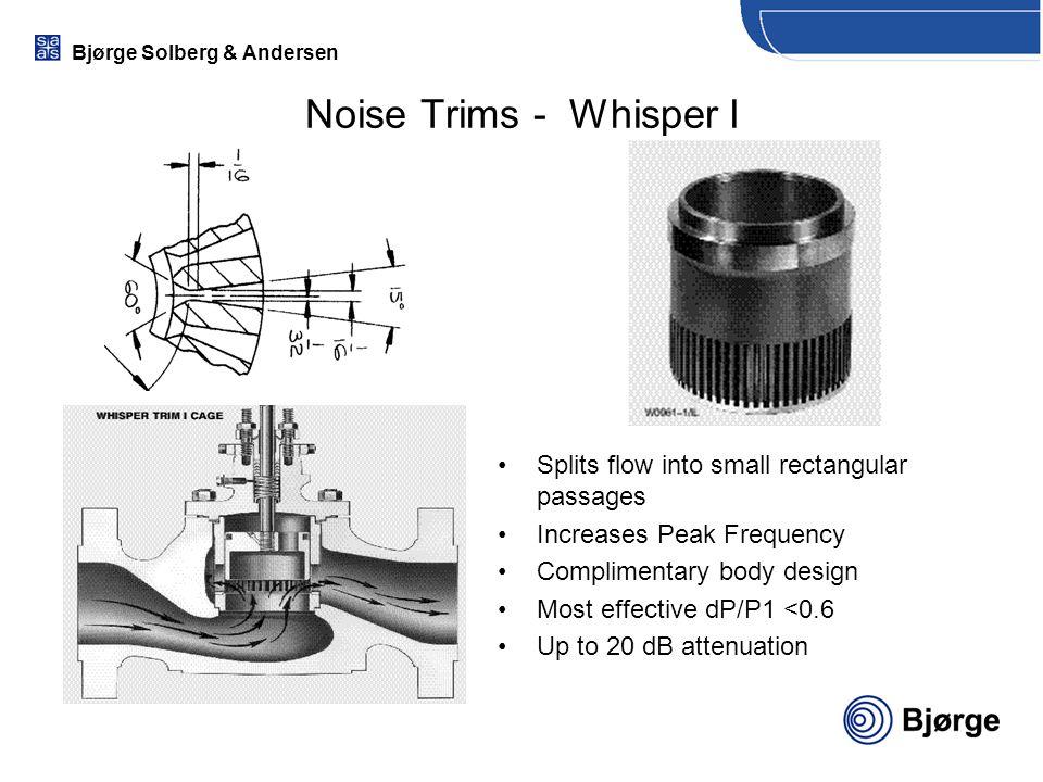 Noise Trims - Whisper I Splits flow into small rectangular passages