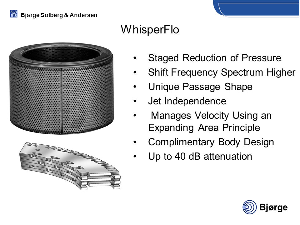 WhisperFlo Staged Reduction of Pressure