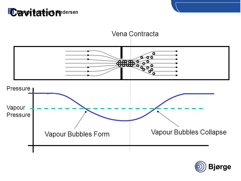 Cavitation Vena Contracta Vapour Bubbles Collapse Vapour Bubbles Form