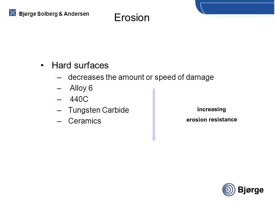 Erosion Hard surfaces decreases the amount or speed of damage Alloy 6