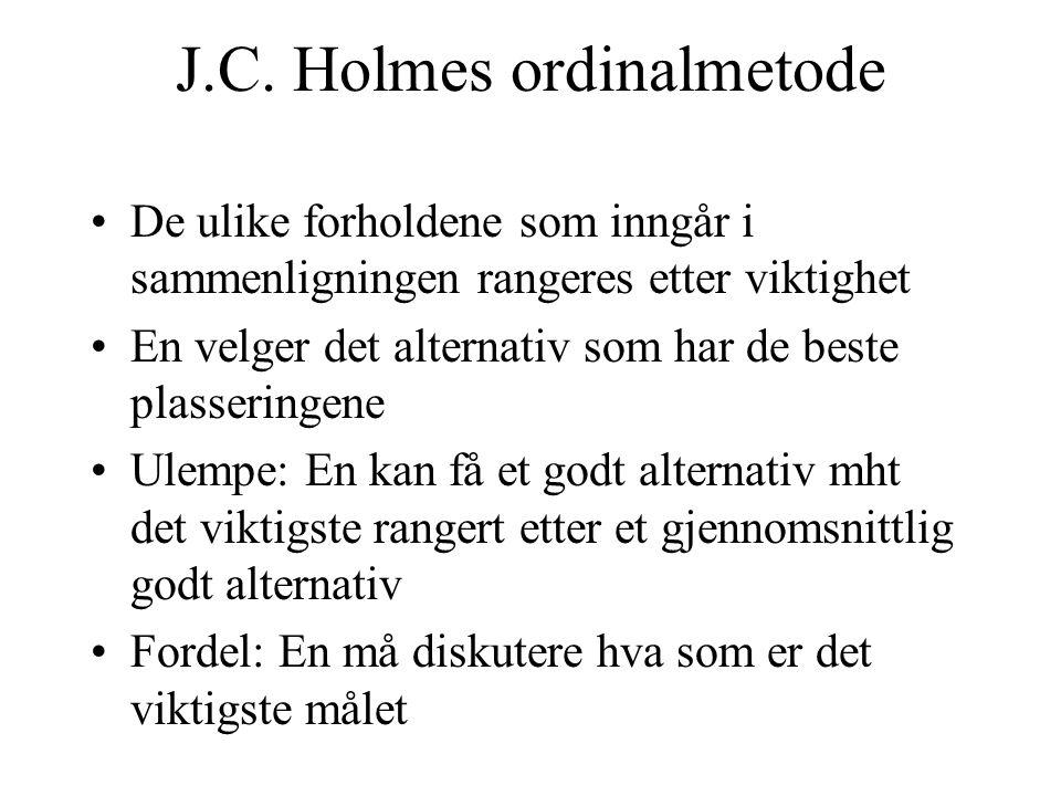 J.C. Holmes ordinalmetode