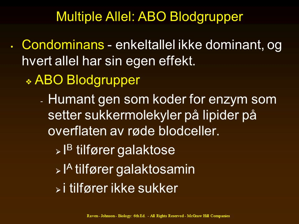 Multiple Allel: ABO Blodgrupper