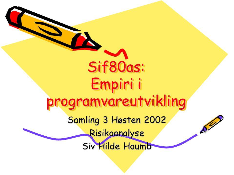 Sif80as: Empiri i programvareutvikling