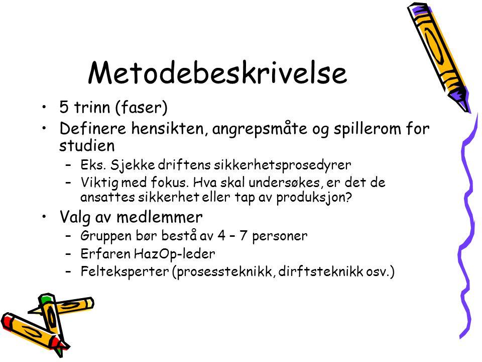 Metodebeskrivelse 5 trinn (faser)