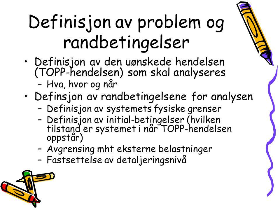 Definisjon av problem og randbetingelser