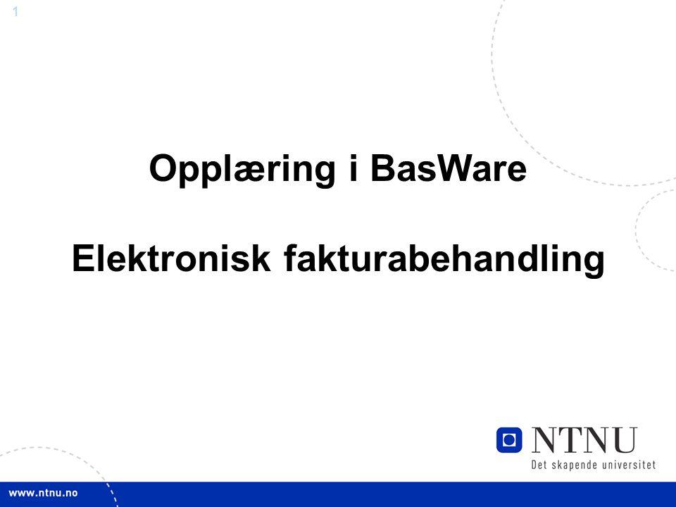 Opplæring i BasWare Elektronisk fakturabehandling