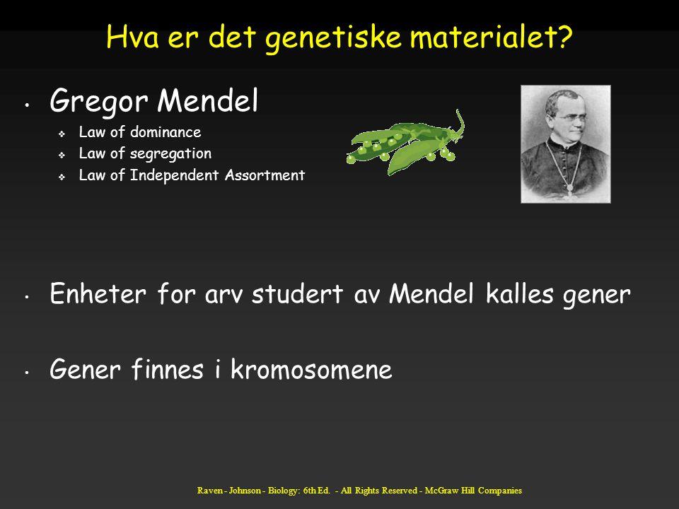 Hva er det genetiske materialet