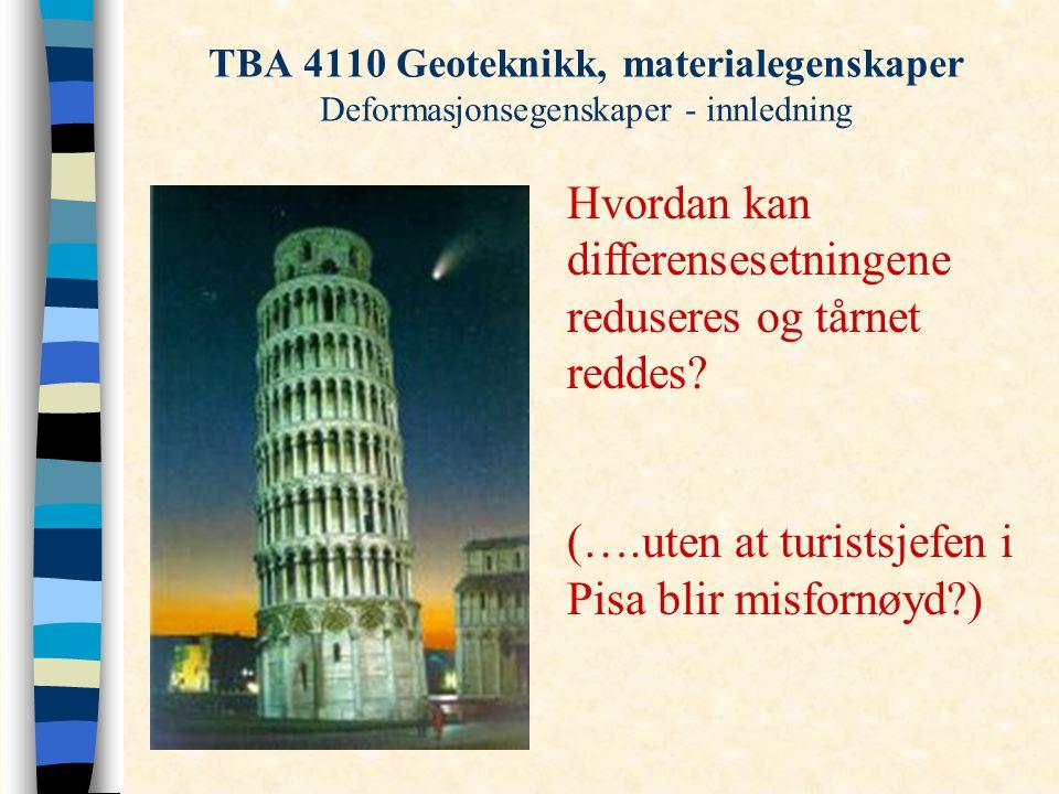 Hvordan kan differensesetningene reduseres og tårnet reddes