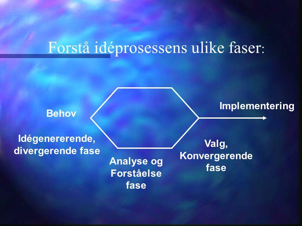 Forstå idéprosessens ulike faser: