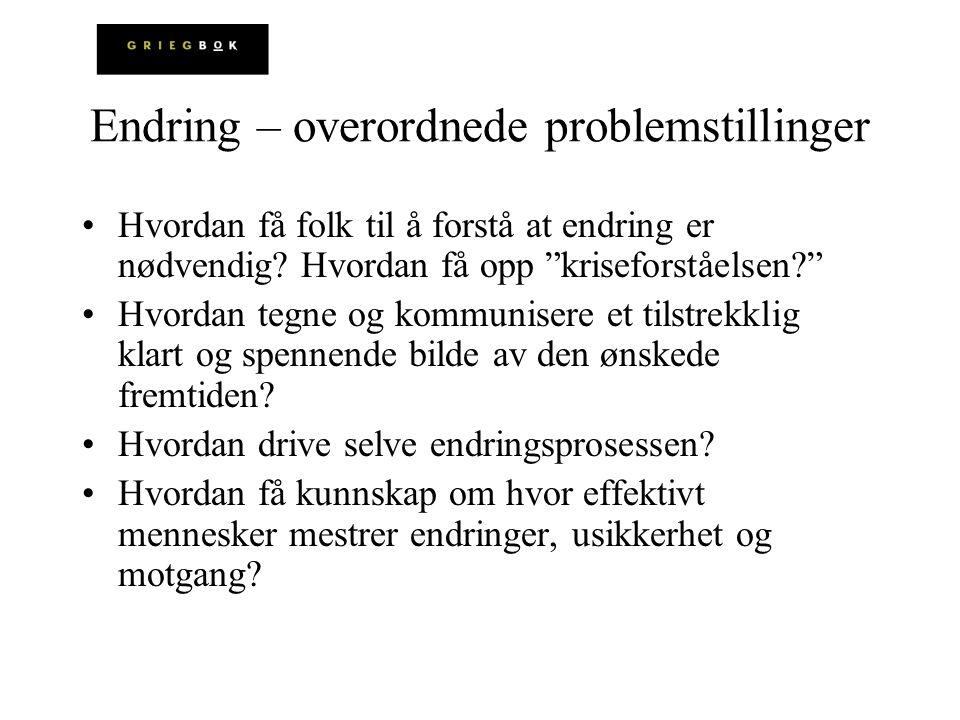 Endring – overordnede problemstillinger