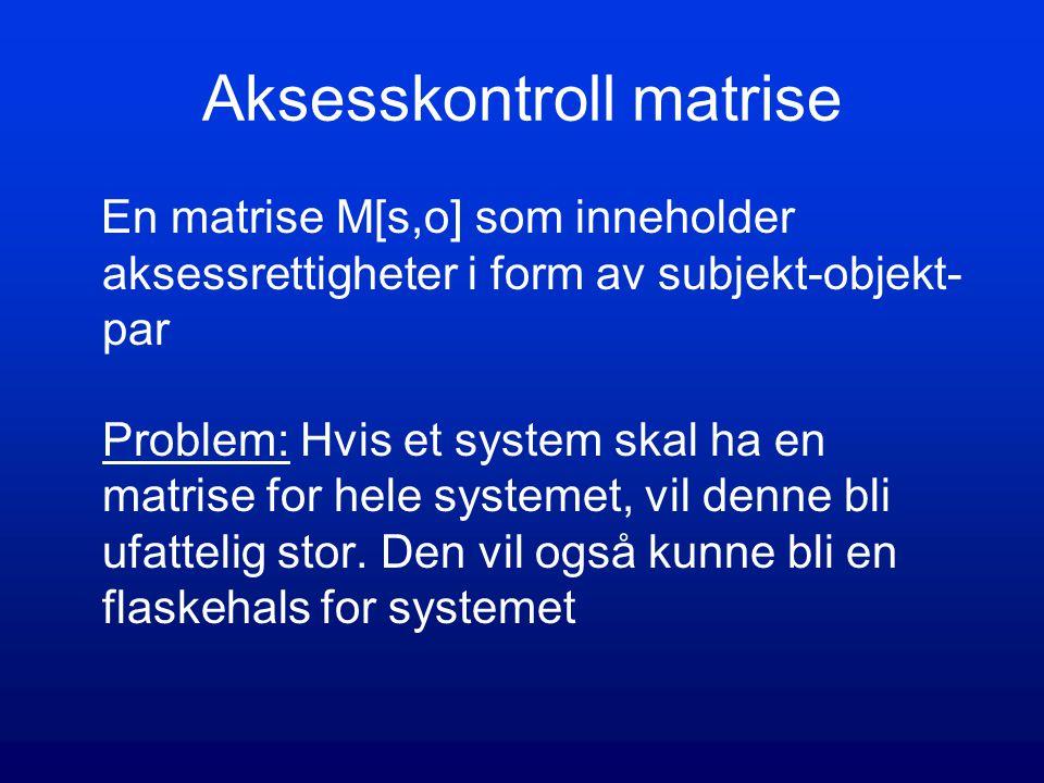 Aksesskontroll matrise