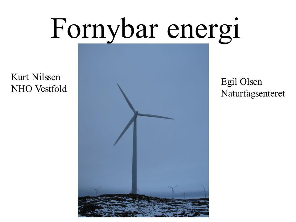 Fornybar energi Kurt Nilssen NHO Vestfold Egil Olsen Naturfagsenteret