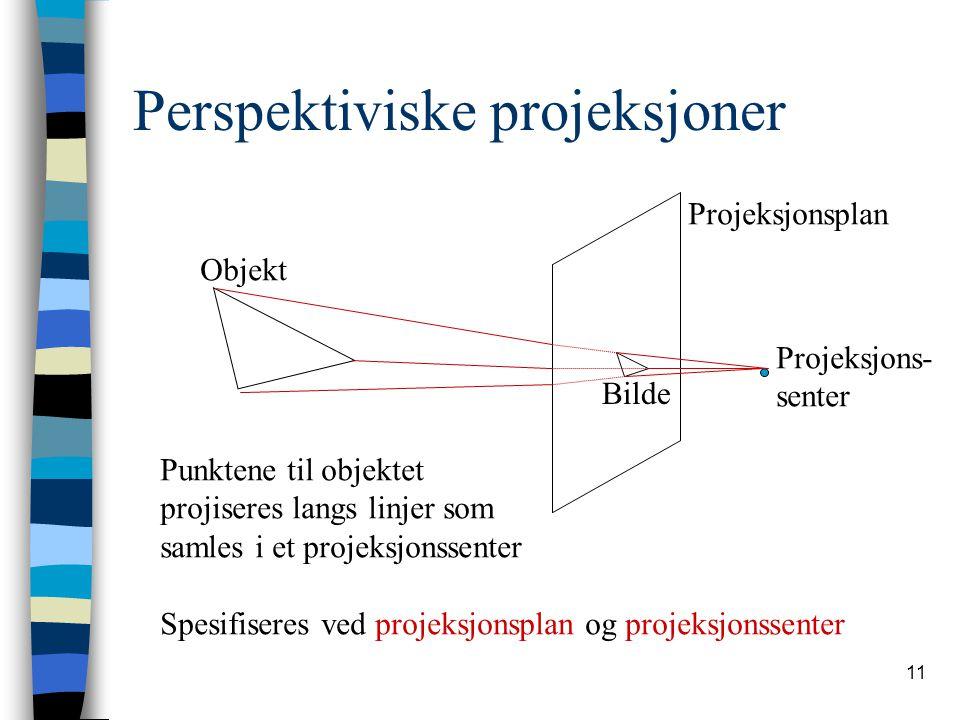 Perspektiviske projeksjoner