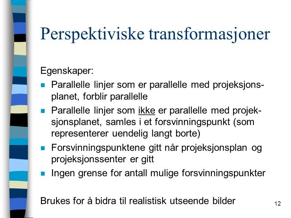 Perspektiviske transformasjoner