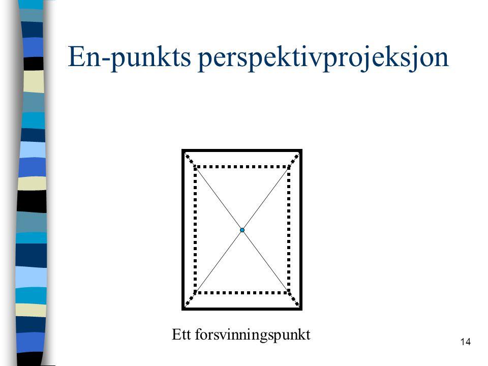 En-punkts perspektivprojeksjon