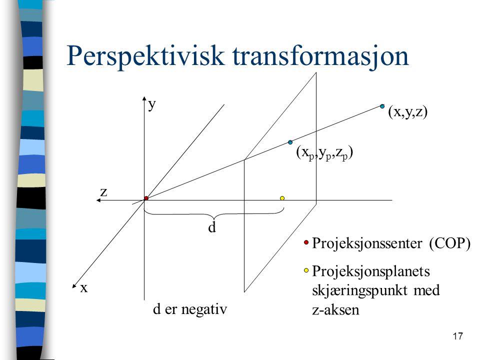 Perspektivisk transformasjon