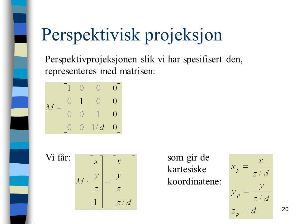 Perspektivisk projeksjon