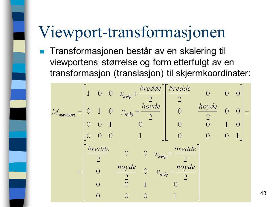 Viewport-transformasjonen