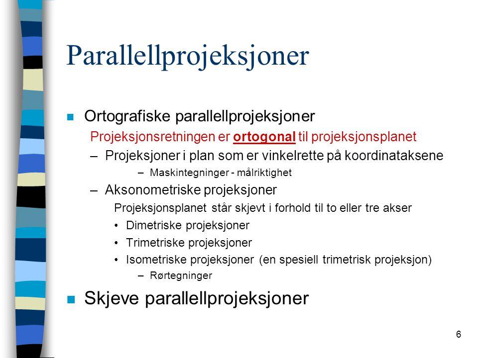 Parallellprojeksjoner