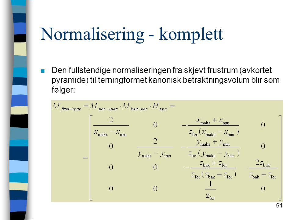 Normalisering - komplett