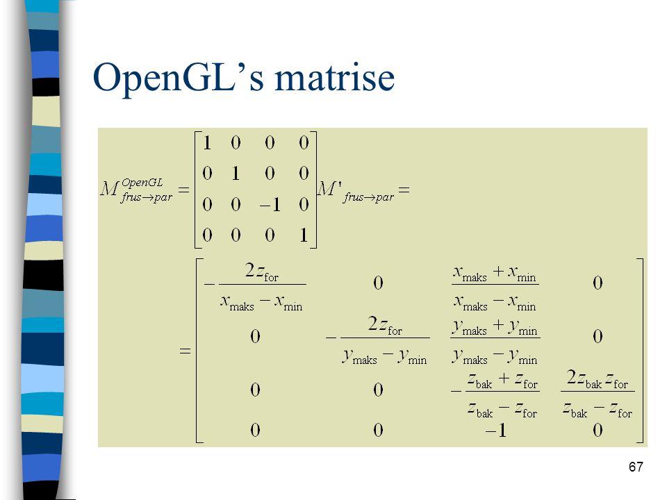 OpenGL's matrise