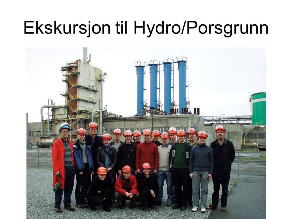 Ekskursjon til Hydro/Porsgrunn